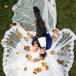 Bride-Groom-poased-fall